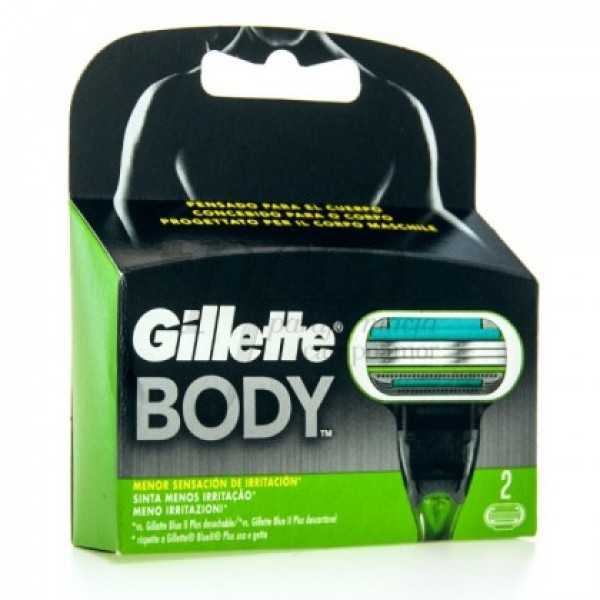 GILLETTE BODY RECAMBIO 2U