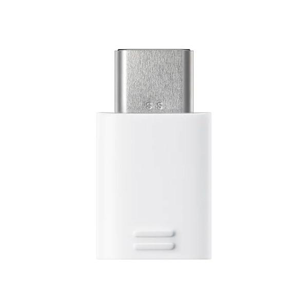 Samsung adaptador usb tipo c a micro usb blanco