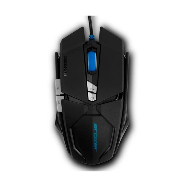 Medion erazer x81044 negro ratón gaming mouse usb  7 botones iluminación led 8000 dpi