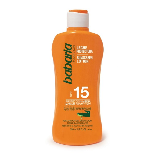 Babaria aloe vera leche corporal spf15 proteccion media 200ml