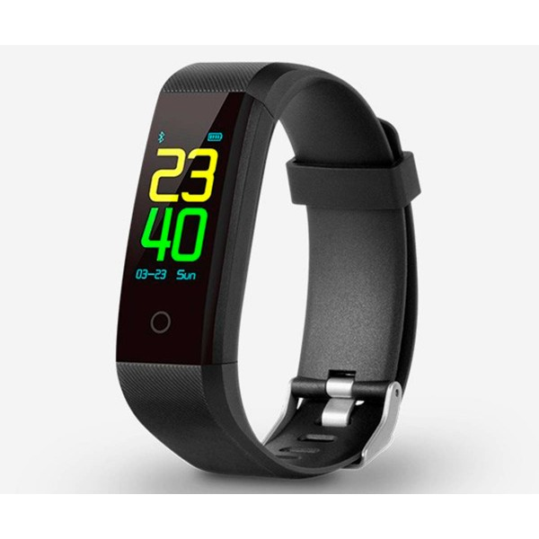 Spc 9627n negro pulsera multideporte smartee bluetooth ip67 pulsómetro podómetro monitor de sueño