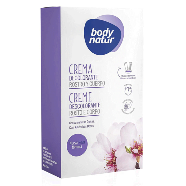 Body Natur crema decolorante Rostro y Cuerpo 50 ml + 50 ml