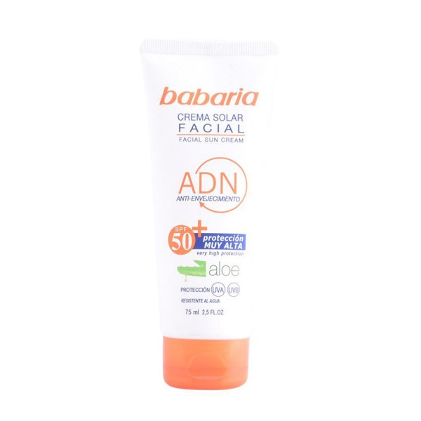 Babaria aloe vera crema solar facial spf50+ 75ml