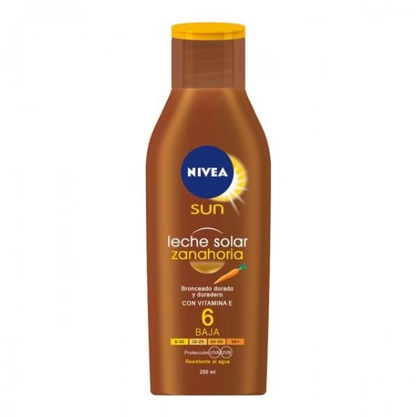 Nivea leche solar zanahoria spf 6 200 ml