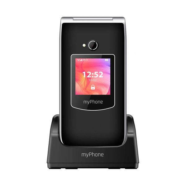 Myphone rumba 2 negro móvil senior 2g 2.4'' con tapa cámara bluetooth sos