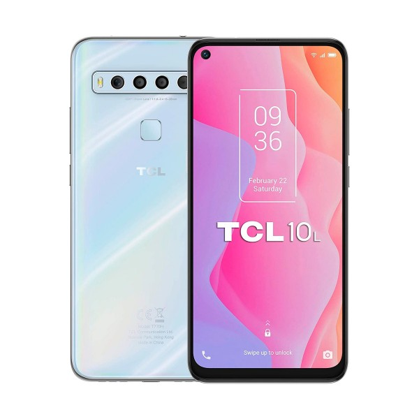 Tcl 10l blanco móvil 4g dual sim 6.53'' fullhd+ octacore 64gb 6gb ram quadcam 48mp selfies 16mp