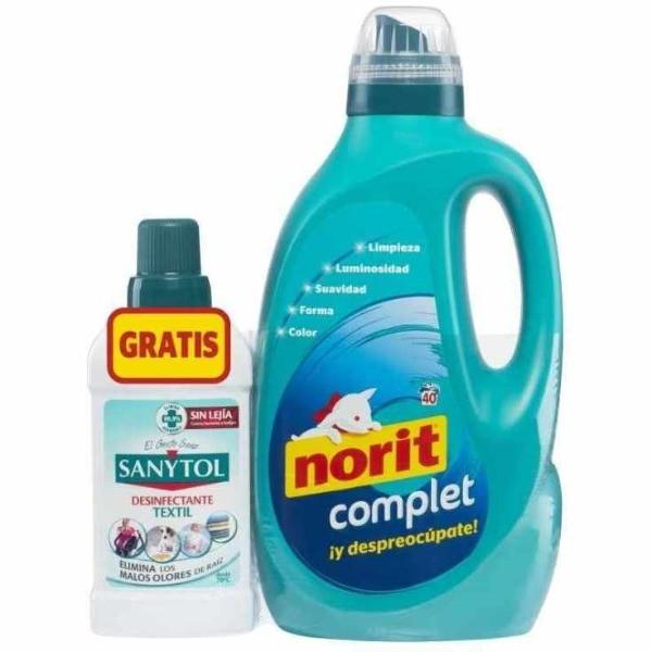Norit detergente Diario 2 L + Sanytol desinfectante Textil 500 ml GRATIS